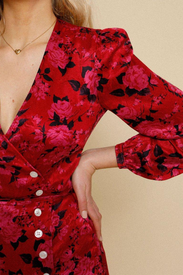 Rouje Gabinette Dress Rouge Rose detail