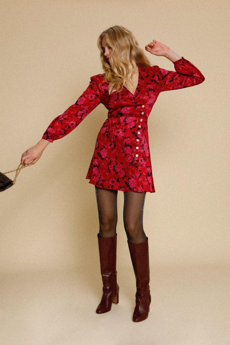 Rouje Gabinette Dress Rouge Rose