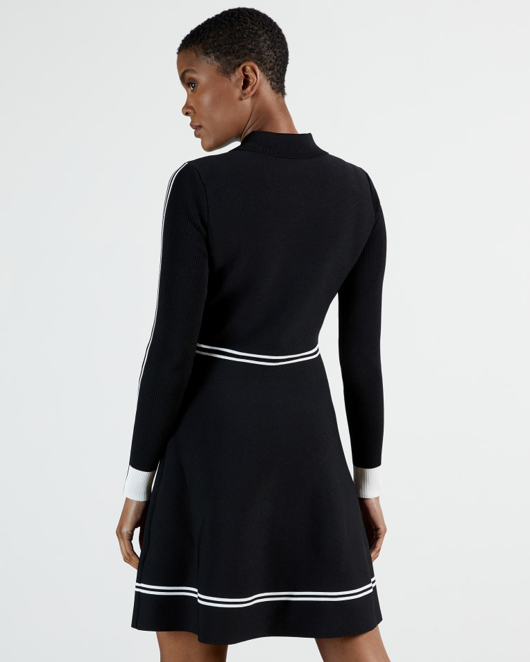 Ted Baker Sofiyya Shirt style skater dress back view