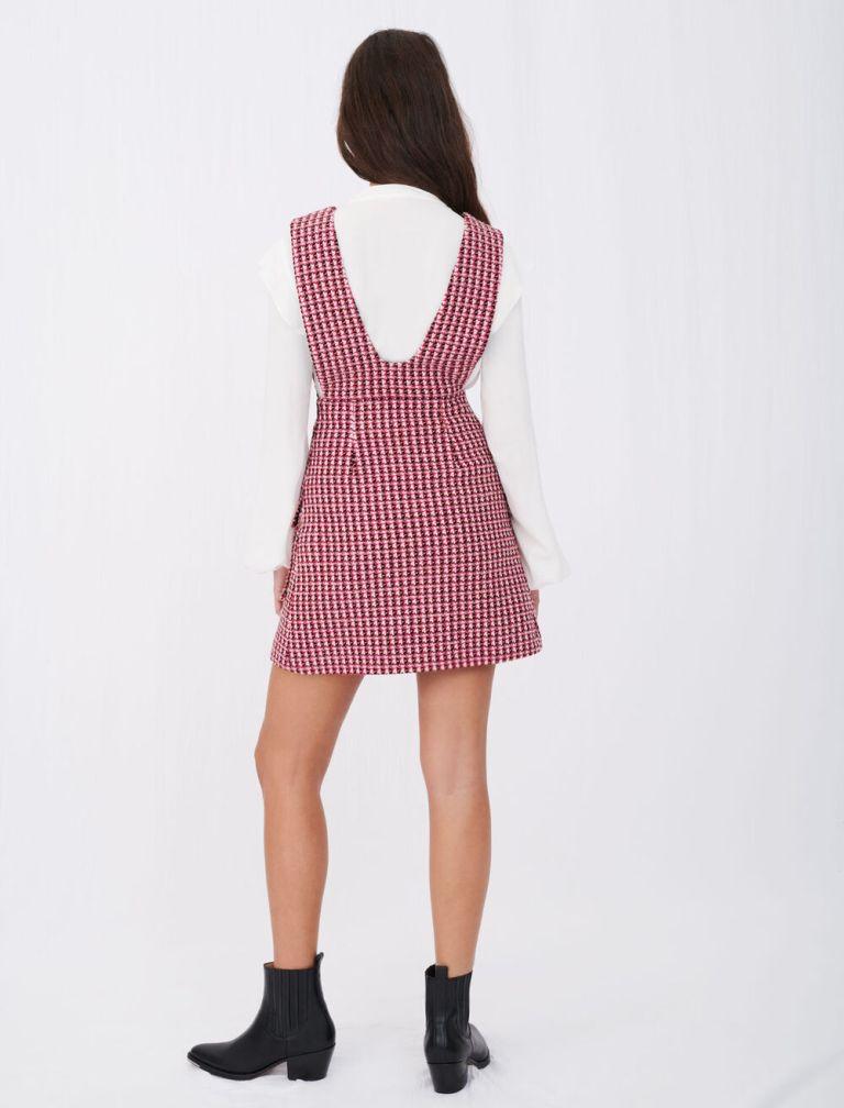 Maje Trompe Loeil Tweed Dress back view