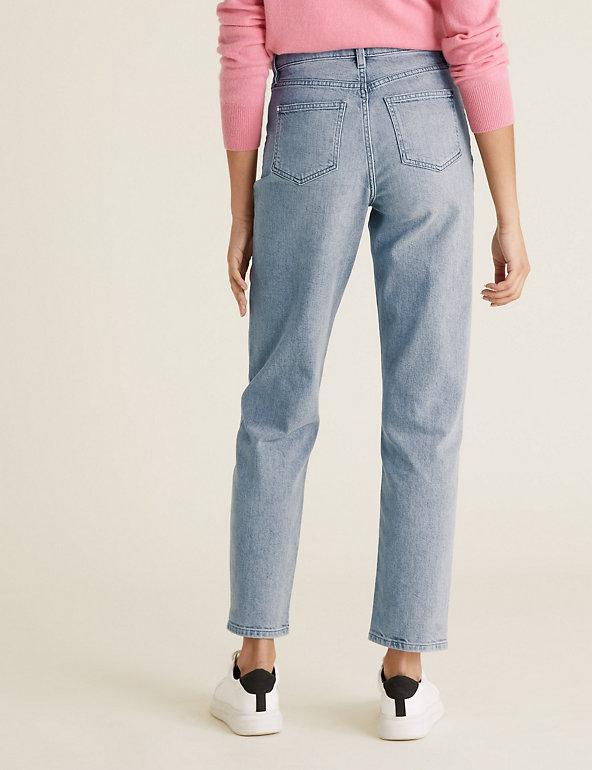 M&S Boyfriend Ankle Grazer Jeans with Stretch back view