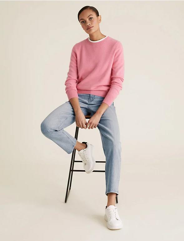 M&S Boyfriend Ankle Grazer Jeans with Stretch