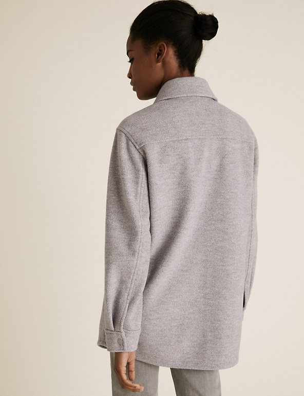 M&S Grey Utility Shacket back view