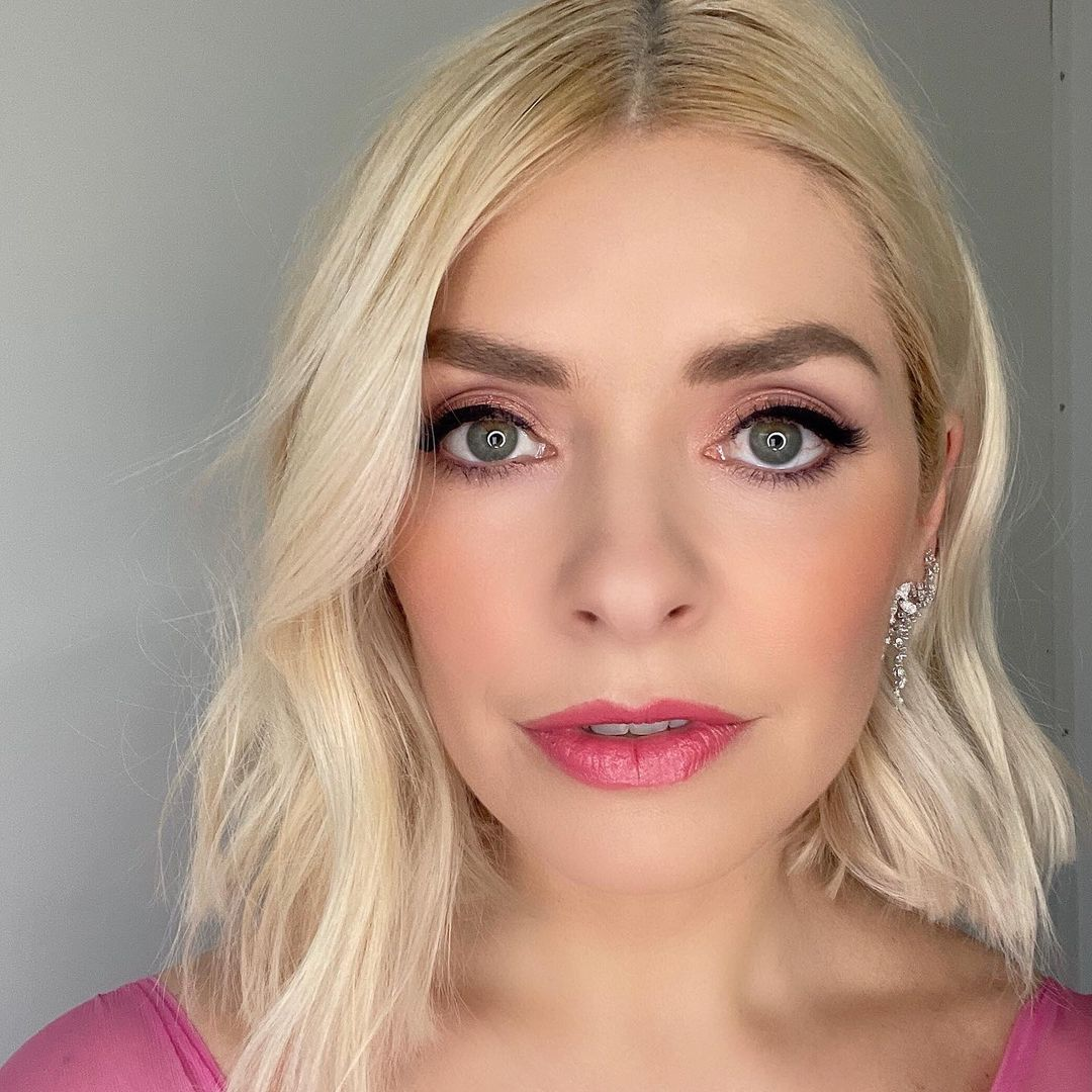 where to get all Holly Willoughby Dancing on Ice dresses pink feather trimmed gown 14 February 2021 Photo Holly Willoughby