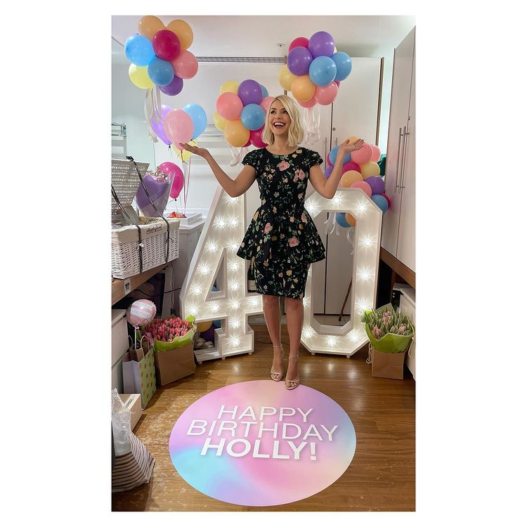 where to get Holly Willoughby This Morning dresses black floral dress nude sandals 10 February 2021 Photo Holly Willoughby