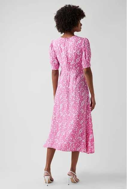 Great Plains Fresh Ditsy Round Neck Dress back view