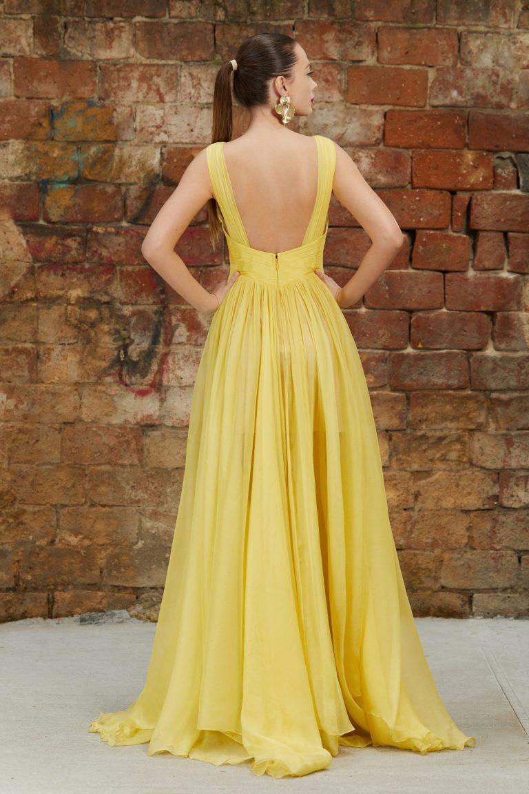 Iris Serban Sunrise Gown back view