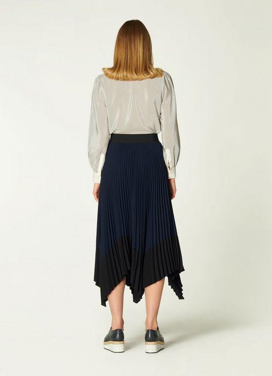 L.K Bennett Koller Dip Hem Pleated Skirt back view
