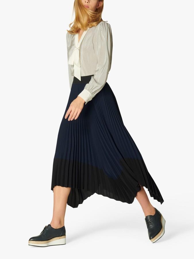 L.K Bennett Koller Dip Hem Pleated Skirt