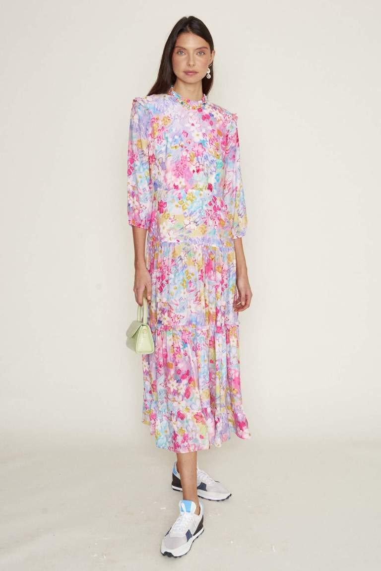 RIXO Monet Spring Meadow Dress