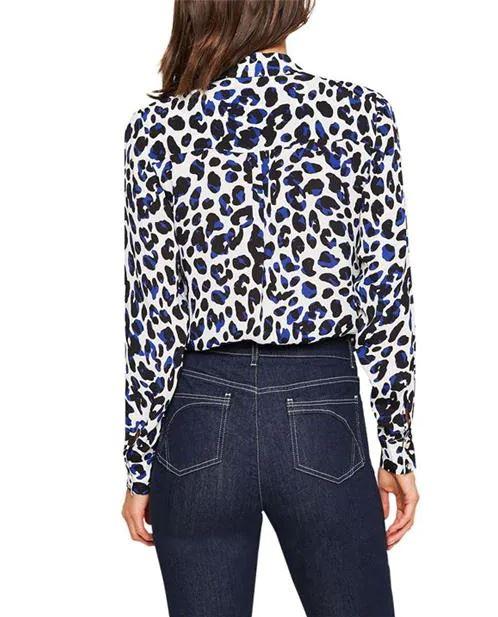Damsel in a Dress Urban Leopard Blouse back view