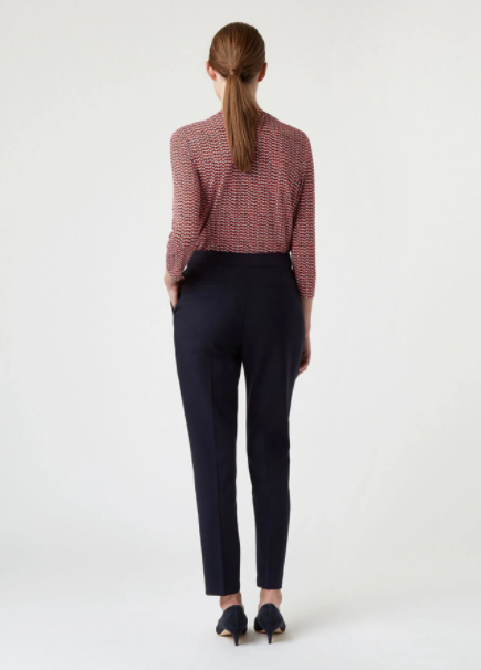Hobbs Gael Wool Blend Trousers With Stretch back view