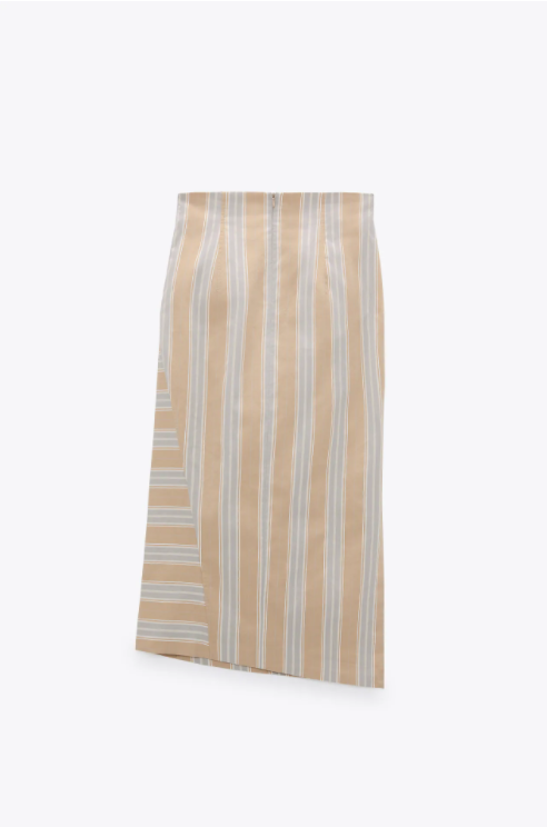 Zara Draped Midi Skirt back view