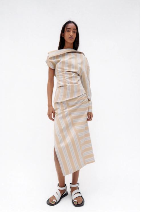 Zara Draped Midi Skirt v2