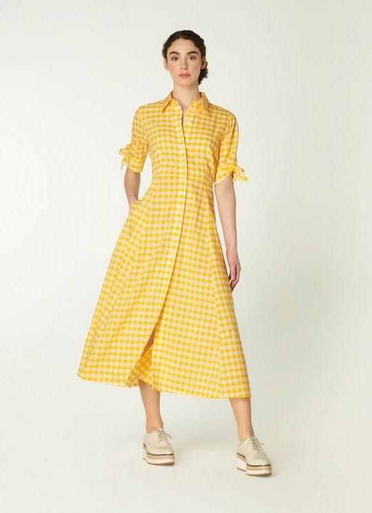 LK Bennett Cotton Blend Shirt Dress