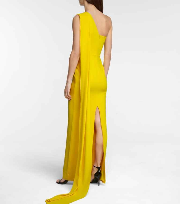 Alex Perry Jude crêpe satin gown back view