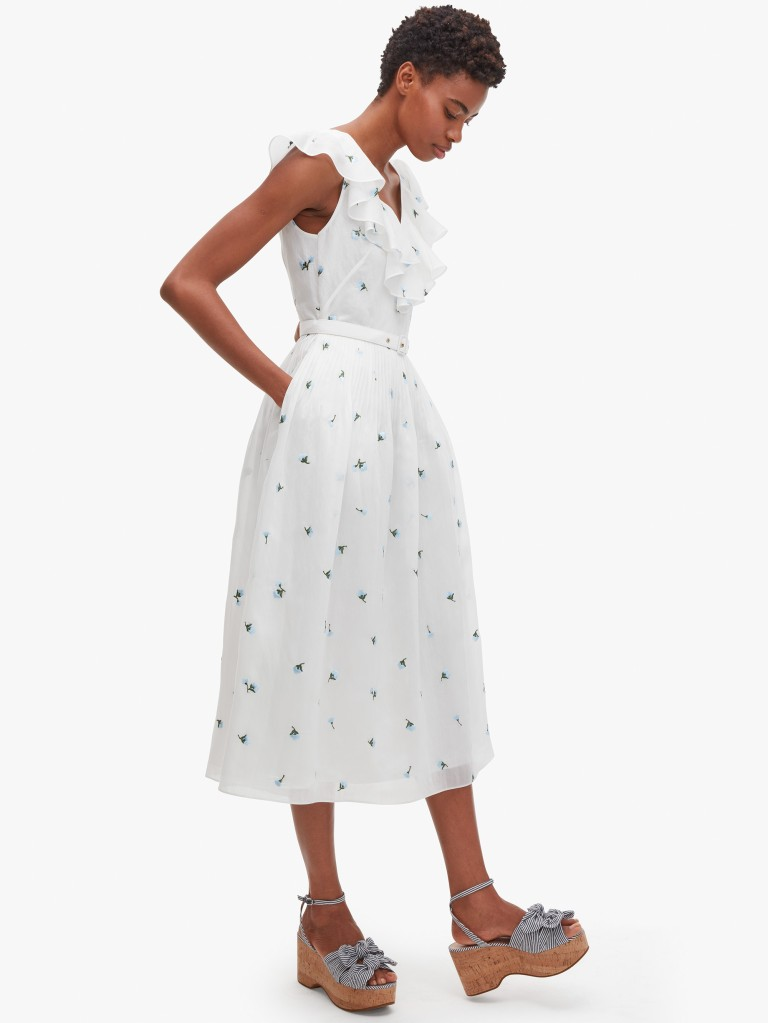 Kate Spade Dainty Bloom Embroidered Dress