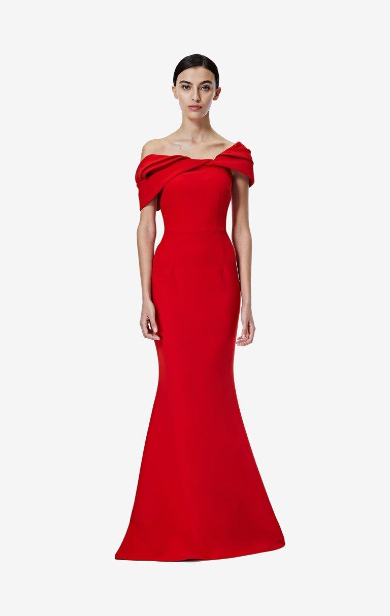 Safiyaa Rosa Dazzling Red Long Dress v3