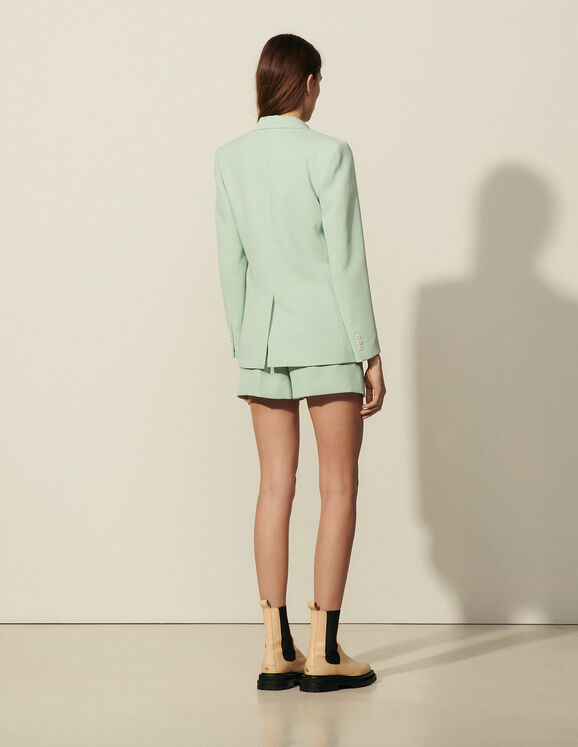 Sandro Tailored Jacket ans shorts back view