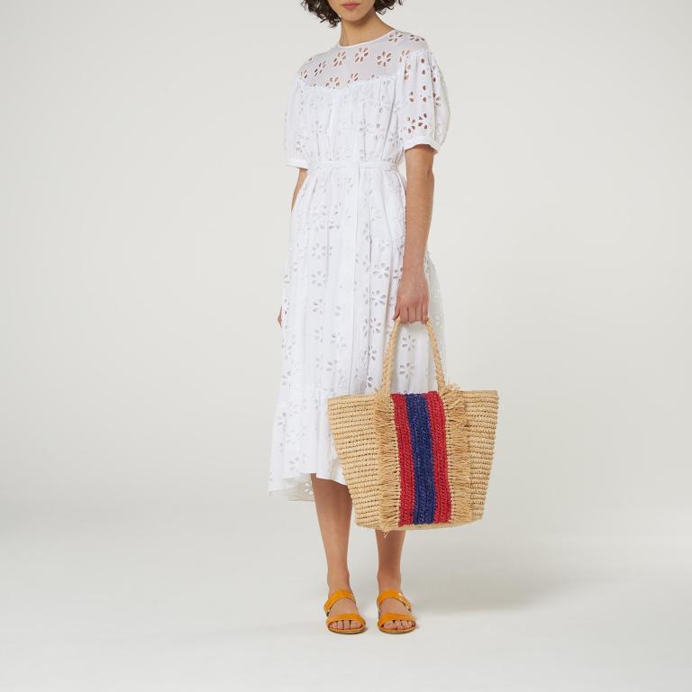 LK Bennett Rego Broderie Anglaise cotton Midi Dress