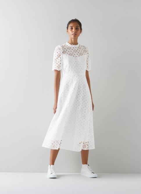 LK Bennett White Honor Dress