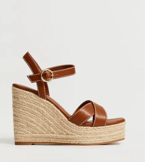 Mango Wedge Strips Sandals