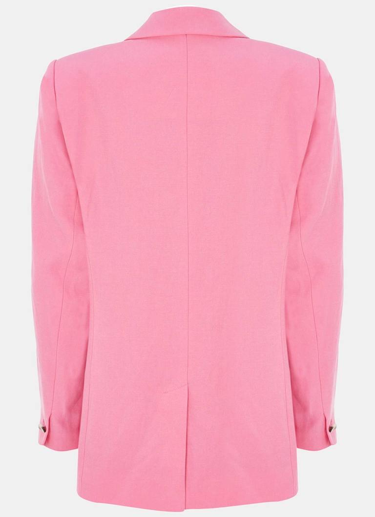 Mint Velvet Pink Single Breasted Blazer back view