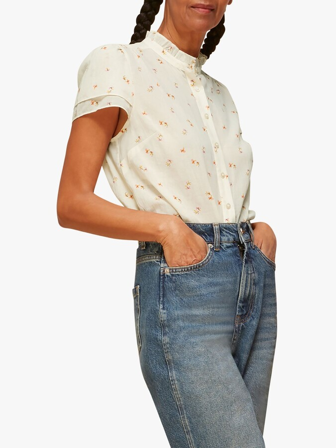 Whistles Forget Me Not Voile Blouse