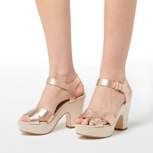 Dune Jiyla Platform Sandals