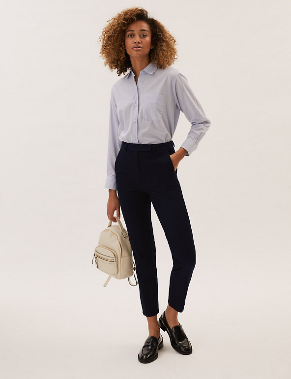 M&S Slim Ankle Grazer Trousers