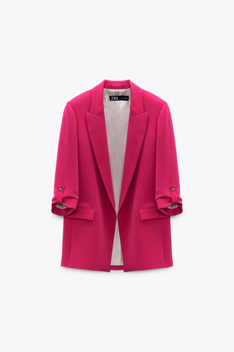Zara Blazer With Rolled-Up Sleeves