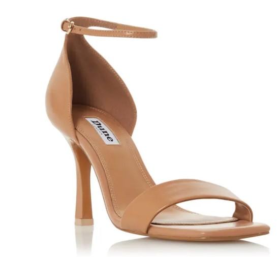 Dune Meri T Square Toe High Heel Sandals