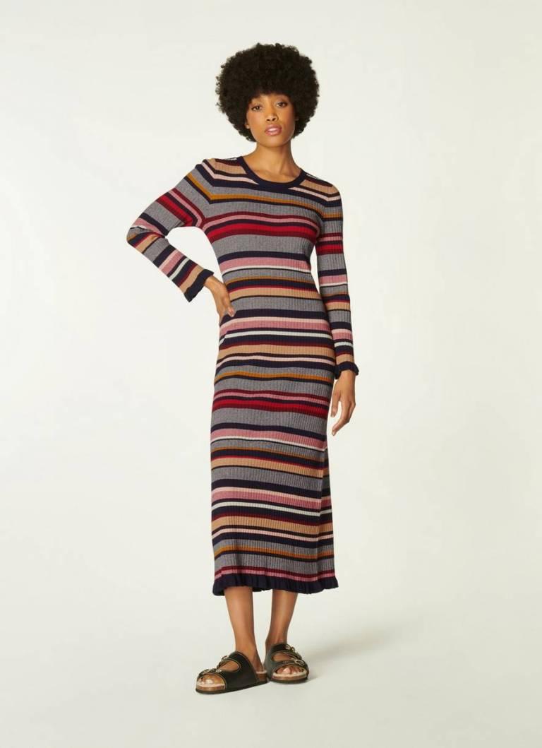 Lillian Multi-Stripe Knitted Dress
