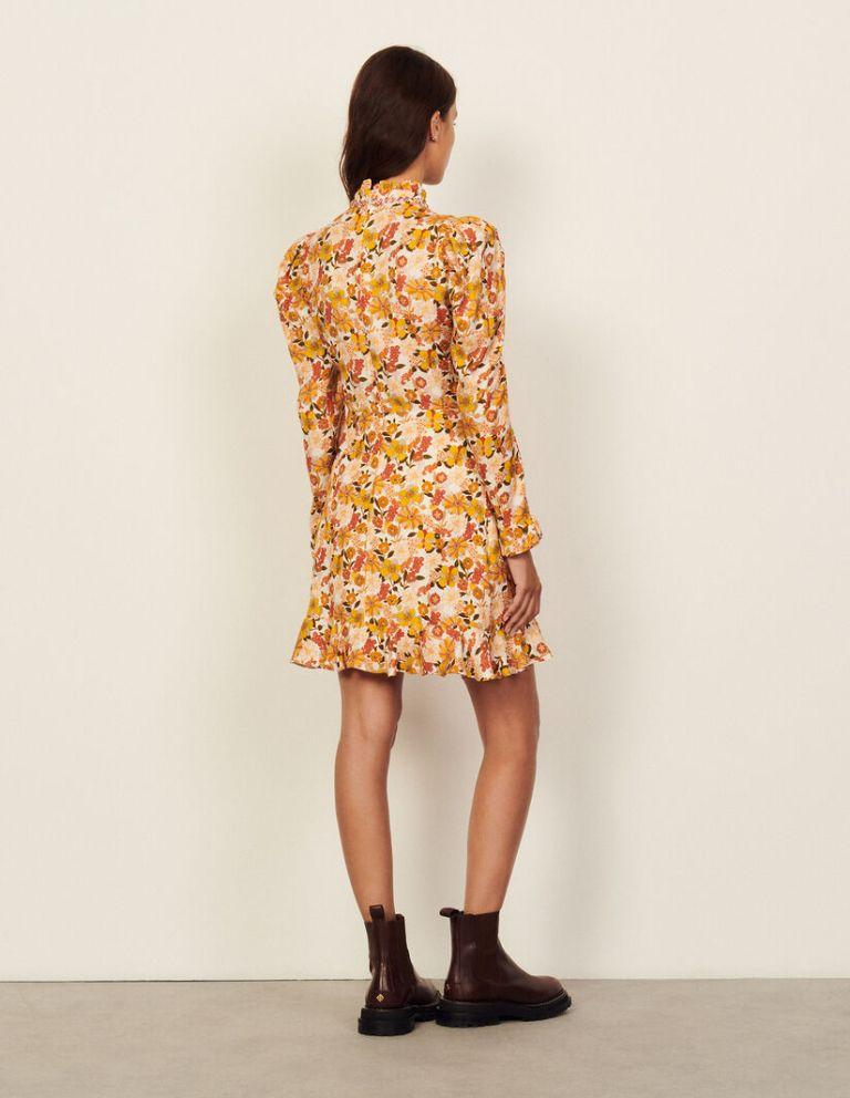 Sandro Paris floral-print Grace dress back view