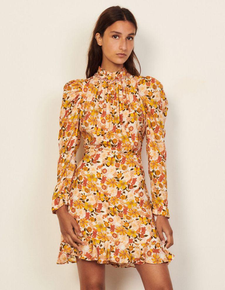 Sandro Paris floral-print Grace dress