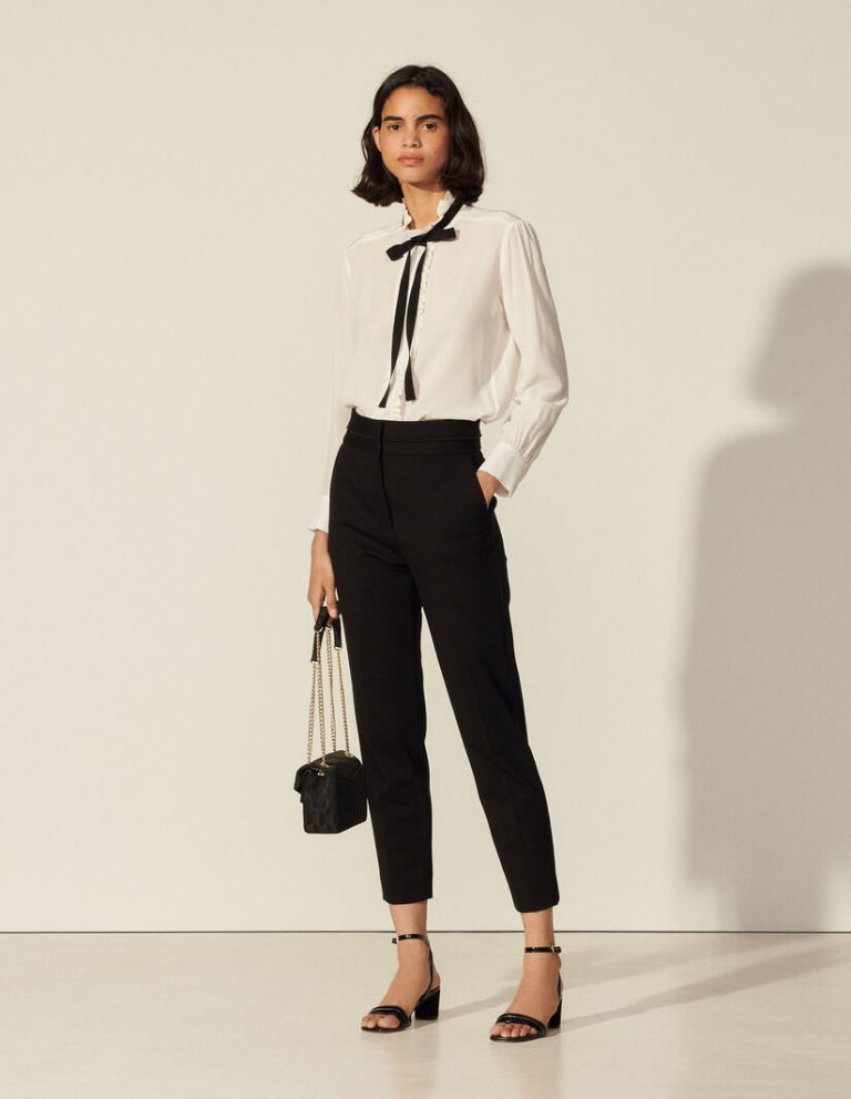 Sandro Paris High-waisted classic trousers