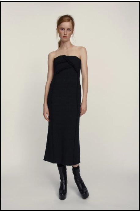 Zara Textured Dress black